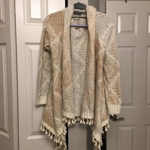 Mystree Cozy Sweater/Cover Up/Shawl - Beige/Tan